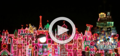 Disneyland Christmas at Night