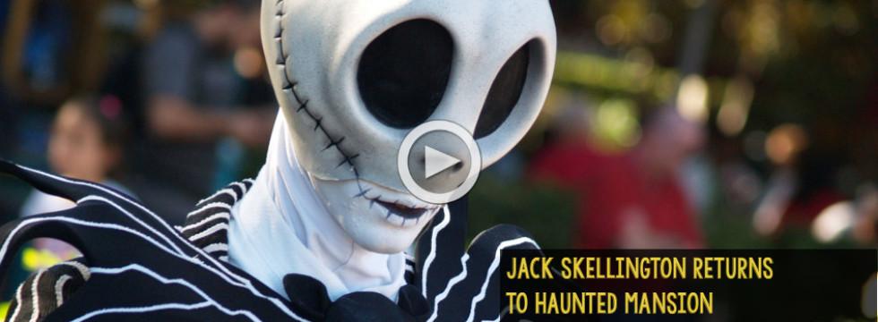 Jack Skellington Returns to Haunted Mansion