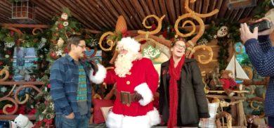 Well we didn't get to meet Santa the week before. But this week...this is the week we met Santa finally